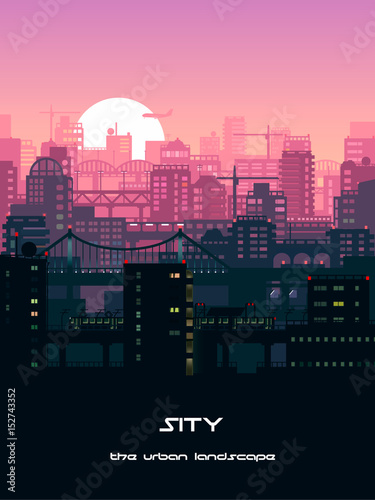Urban landscape illustration