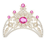 illustration feminine decorative tiara crown with jewels