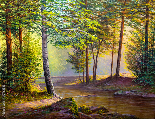 Oil painting landscape - 152763533