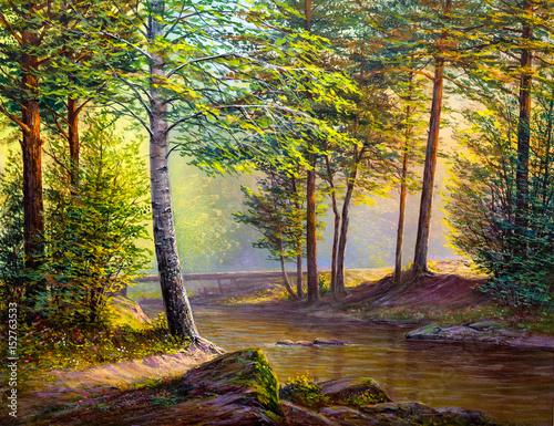 Oil painting landscape - 152763533