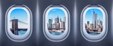 new york city seen from an aircraft