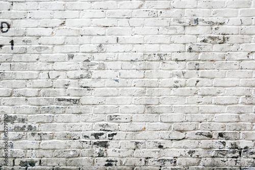 White brick wall background - 152791709