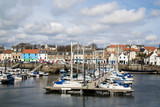 A view of the harbour at Anstruther, Fife, East Neuk, Scotland - 152792595