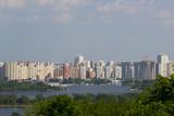 aerial view of Kiev the capital of Ukraine.