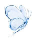 Fototapety Butterfly made of water splashes isolated on white background