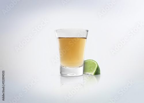 Gold shot of tequila Poster