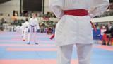 Athlete tatami is preparing for battle