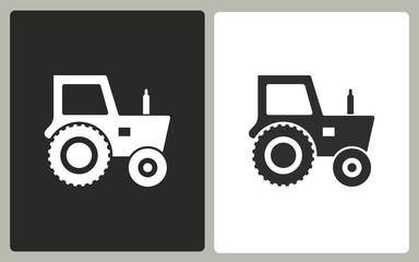 Tractor - vector icon.