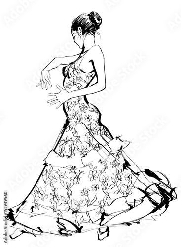 Canvas Art Studio Flamenco spanish dancer woman
