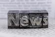 Leinwanddruck Bild - news in lead characters