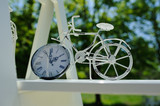 romantic style with metal white bike