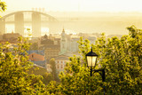 morning view of Podil - old district of Kyiv, Ukraine.