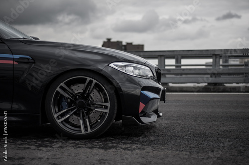 BMW M2 Perfomance pack on the road плакат