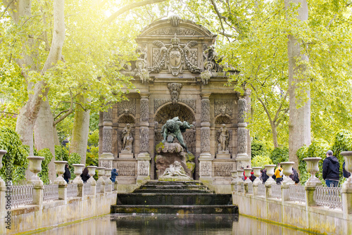 Medici Fountain in the Luxembourg Garden, Paris Poster