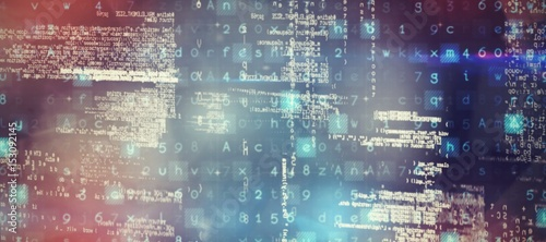 Leinwanddruck Bild Composite image of image of data