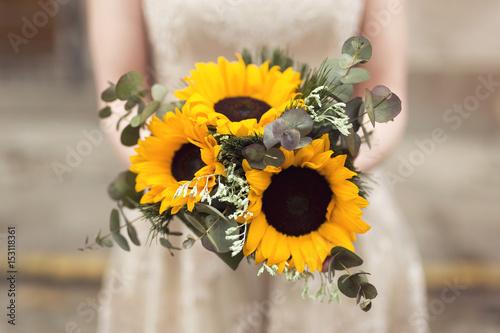 Sunflower bouquet - 153118361