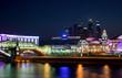 Moscow River Night / Kiyevsky Railway Terminal