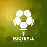 Football soccer ball vector illustration abstract background
