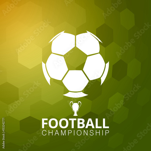 Football soccer ball vector illustration abstract background