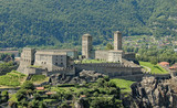 Castelgrande is a medieval castle dating from 13th century on a rocky hilltop - Bellinzona, Switzerland - 153273924