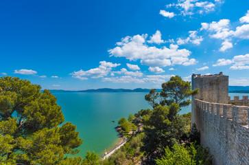 Castiglione del Lago (Umbria) - A medieval town with a big castle in historic center, beside Trasimeno lake, central Italy