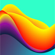 Fluid Colors with Red Yellow Violet Gradient Abstract Background.