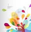 Abstract colored background with leafs. - 153356729