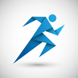 Fototapety biegacz origami wektor