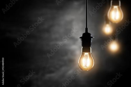 Foto Murales retro lamps