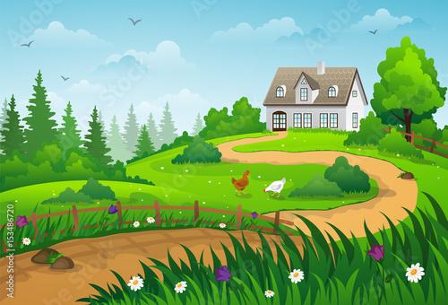 Plexiglas Boerderij Country summer