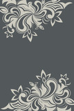 Floral card or banner template