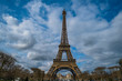 Clouds, Blue Sky And The Eiffel Tower