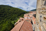 Castellfollit de la Roca village in Girona, Spain
