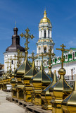 KIEV, UKRAINE - April 17, 2017: The Lavra Crosses, Kiev, Ukraine