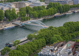 Aerial view of Paris in summer