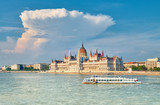 Budapest, Parliament building, toned image