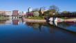 Rochester, Minnesota. Civic Center, River, Skyline