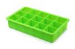 Leinwandbild Motiv Green silicone ice cube tray