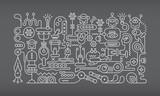 Robot Workshop Line art