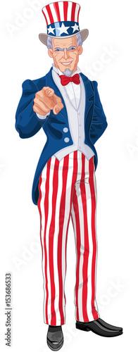 Aluminium Meisjeskamer Uncle Sam Wants You