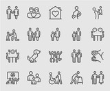 Family relation line icon - 153694914