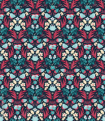 Boho Flower Pattern - 153728739