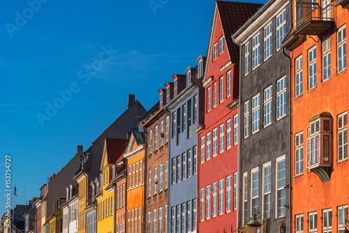 Poster Colorful facades of Copenhagen Nyhavn district