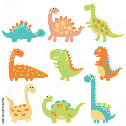 Fototapeta Cute dino illustration