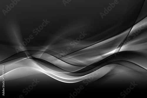 Design trendy element for card, website, wallpaper, presentation. Greyscale modern bright waves art. Blurred pattern effect background. Abstract creative graphic template. Decorative business style.