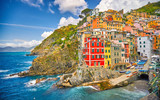 Riomaggiore Cinque Terre Wybrzeże Włoch
