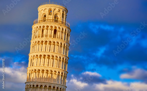 The Leaning Tower of Pisa Architectural Detail