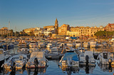 Sunset at the village of Palamos, Girona province, Catalonia, Spain