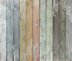 Old color wood planks background