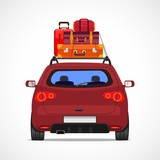 Suitcases on your car. Vacation travel